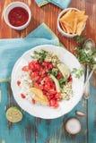 Pico de Gallo ny mexicansk salsa fotografering för bildbyråer