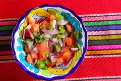 Pico de gallo tomato and chili Mexican sauce Stock Photos