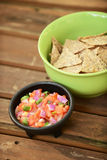 Pico de gallo and tortilla chips Stock Photo