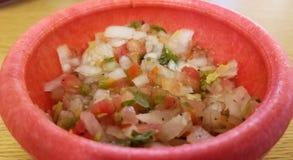 Pico DE Gallo, typisch Mexicaans voedsel, met tomaat, jalapeno en ui royalty-vrije stock fotografie