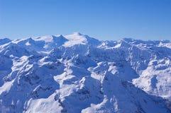 Pico de Grossglockner en invierno Fotos de archivo