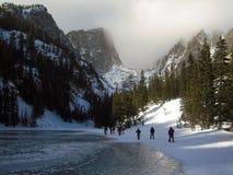 Pico de Hallett, lago ideal foto de archivo