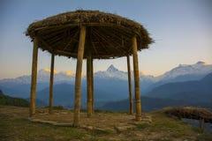 Pico de la espina de pescado de Annapurna Fotos de archivo libres de regalías