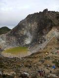 Pico de la montaña de Sibayak Fotografía de archivo libre de regalías