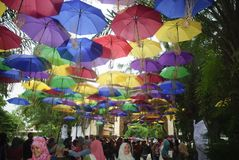 PICO DE LA MONZÓN DE INDONESIA EN FEBRERO Fotos de archivo libres de regalías