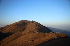 Pico de la puesta del sol Fotos de archivo libres de regalías