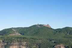 Pico de las Nieves from Roque Nublo Royalty Free Stock Photo