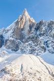 Pico de Les Drus en las montañas francesas II foto de archivo libre de regalías