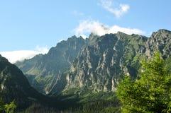 Pico de Lomnicky con el observatorio en alto Tatras superior Imagen de archivo
