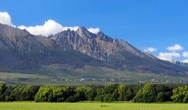 Pico de Lomnicky em Tatras alto, Eslováquia Imagem de Stock