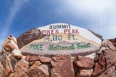 Pico de los lucios Fotografía de archivo libre de regalías