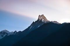 Pico de Machapuchare Foto de archivo libre de regalías