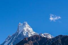 Pico de Machapuchare fotos de archivo libres de regalías