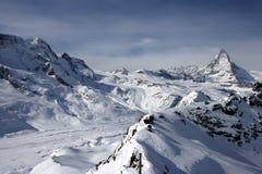 Pico de Matterhorn Fotos de Stock Royalty Free