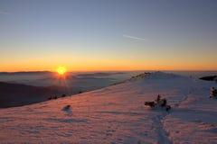 Pico de Midjur, montaña balcánica, Bulgaria Foto de archivo