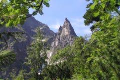 Pico de Mnich en las montañas de Tatra Foto de archivo libre de regalías