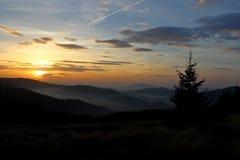 Pico de Mogielica - Beskid Wyspowy, Polônia Imagem de Stock Royalty Free