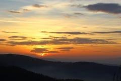 Pico de Mogielica - Beskid Wyspowy, Polônia Fotografia de Stock Royalty Free