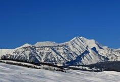 Pico de montaña de Doubletop en la gama de Gros Ventre en Rocky Mountains central en Wyoming Fotos de archivo libres de regalías