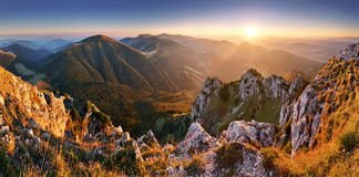 Pico de montaña de Eslovaquia Rozsutec Imagenes de archivo