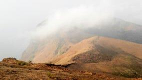 Pico de montaña de Mullayanagiri, la India Imagen de archivo