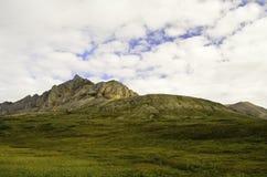 Pico de montaña de oro rugoso Foto de archivo libre de regalías