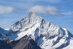 Pico de montaña de Weisshorn Foto de archivo libre de regalías