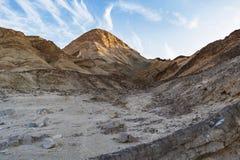 Pico de montaña del desierto cerca de Eilat en Israel fotografía de archivo