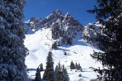 Pico de montaña del invierno Imágenes de archivo libres de regalías