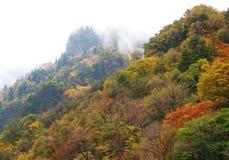 Pico de montaña del otoño Fotos de archivo libres de regalías