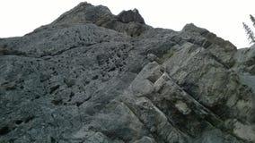 Pico de montaña en blanco y negro Foto de archivo