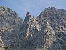 Pico de montaña en las montan@as bávaras Imágenes de archivo libres de regalías