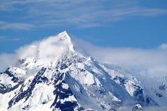 Pico de montaña Nevado Imágenes de archivo libres de regalías
