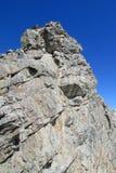 Pico de montaña rocosa Fotografía de archivo libre de regalías