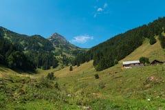 Pico de montaña suizo Imágenes de archivo libres de regalías