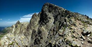 Pico de montanha Fotografia de Stock