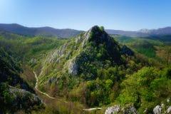 Pico de montanha de Aitzabal no parque natural de Aizkorri Gipuzkoa, Basqu Fotografia de Stock