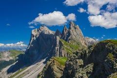 Pico de montanha alpino em cumes de Itália fotografia de stock