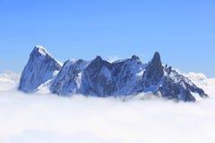 Pico de montanha de Mont Blanc Foto de Stock Royalty Free