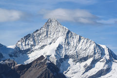 Pico de montanha de Weisshorn Foto de Stock Royalty Free