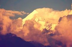Pico de montanha do gelo Imagem de Stock
