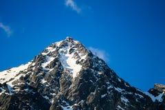 Pico de montanha do inverno Fotografia de Stock Royalty Free