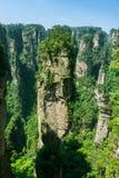 Pico de montanha em Zhangjiajie, China Fotos de Stock Royalty Free
