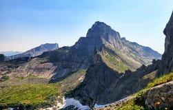 Pico de montanha estrelado Ergaki Ridge Foto de Stock Royalty Free