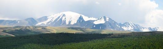 Pico de montanha nevado foto de stock royalty free