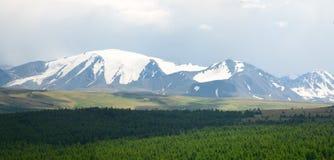 Pico de montanha nevado imagem de stock royalty free