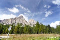 Pico de Monte Cristallo, Italia Foto de archivo