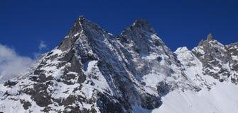Pico de Mt Khumbi Yul Lha, parque nacional de Everest Fotos de archivo libres de regalías