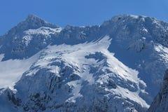 Pico de Negoiu en invierno Fotos de archivo libres de regalías
