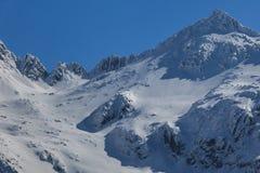 Pico de Negoiu en invierno Fotografía de archivo libre de regalías